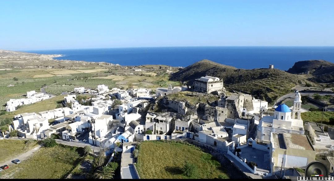 Santorini, spettacolari riprese aeree da Drone Arezzo
