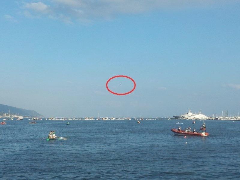 Un Drone in volo per il Palio del Golfo di La Spezia