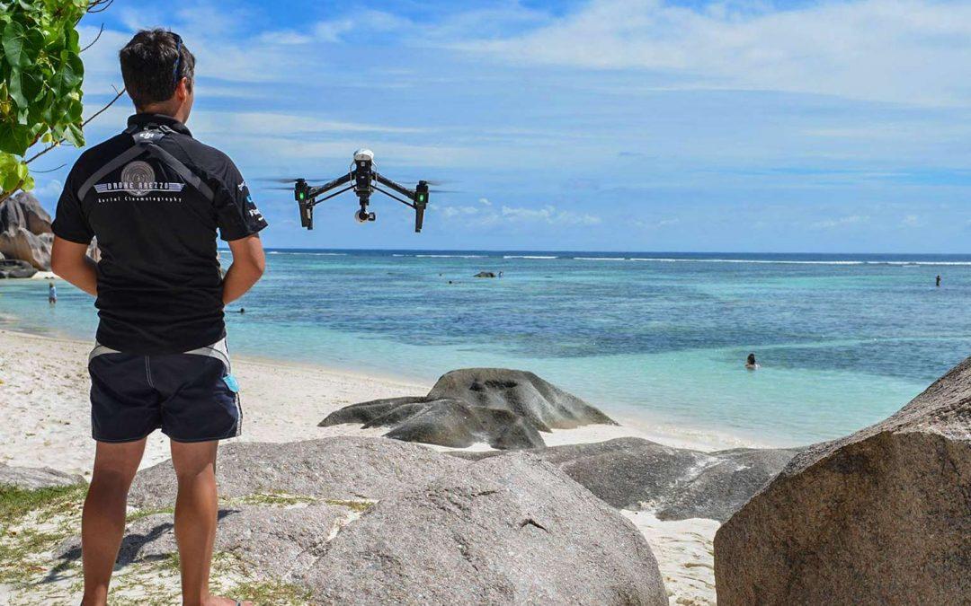 Drone Arezzo vola alle Seychelles