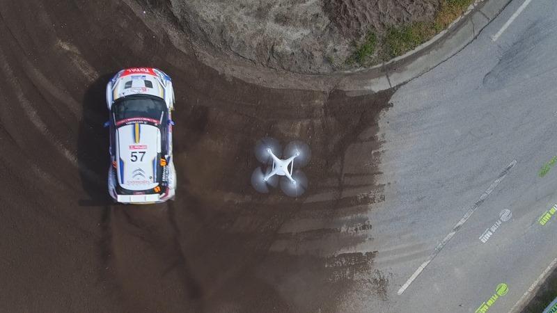 Drone AR X DJI al rally WRC Sardegna 2016