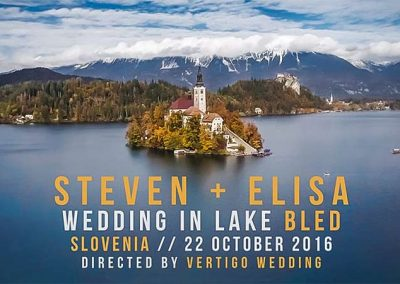 Steven + Elisa. Wedding Video in Lake Bled, Slovenia