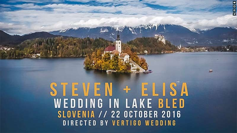 Steven + Elisa. Wedding Video in Lake Bled, Slovenia