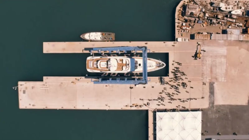 ISA YACHTS – The Launch of ISA Sport 120 M/Y Clorinda